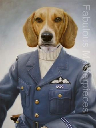dogs in costume art