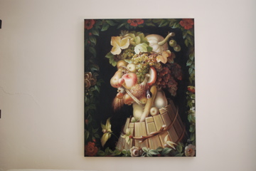 Arcimboldo's Autumn as a Stretched Canvas
