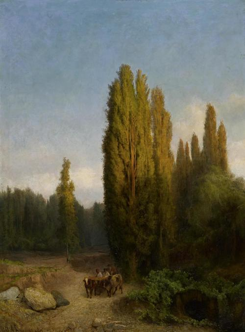 Bougoljuboff's Forest landscape on the Krim