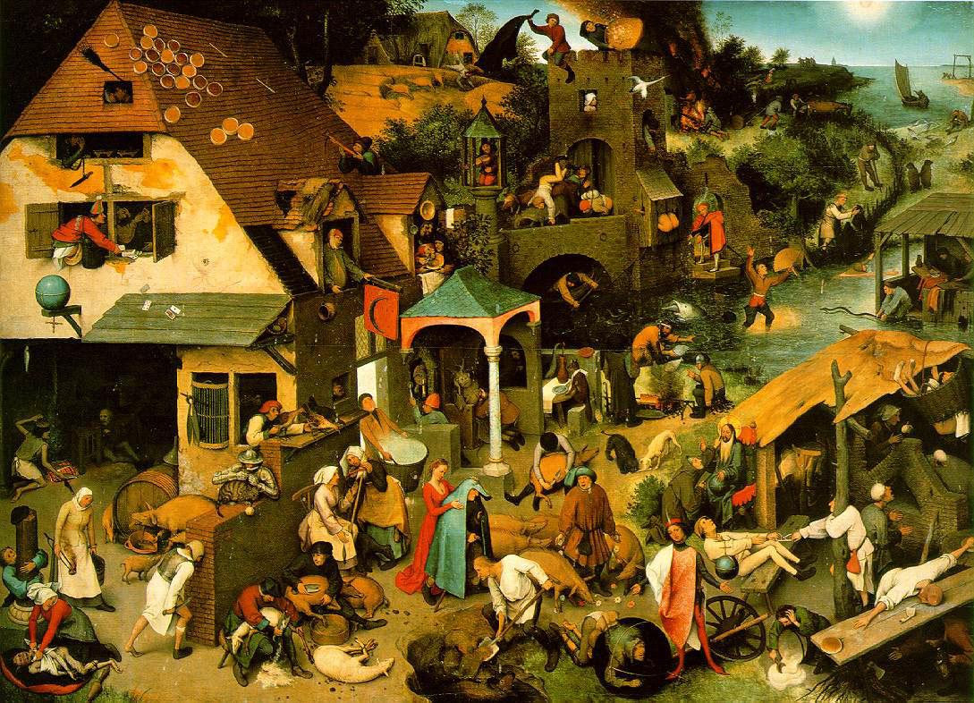 Pieter Brueghel's The Flemish Proverbs