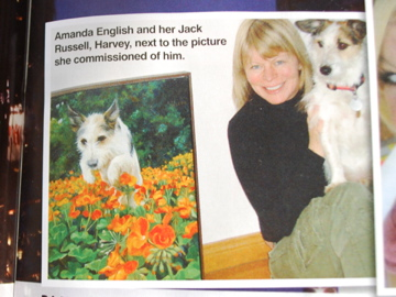 Dog Portrait of Harvey by Fabulous Masterpieces as shown in Dogs Monthly Magazine