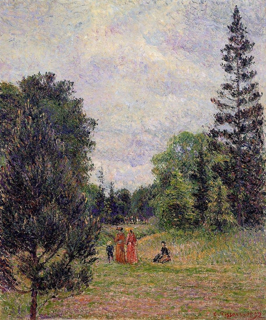 Camille Pissarro, Kew Gardens, Crossroads near the pond.