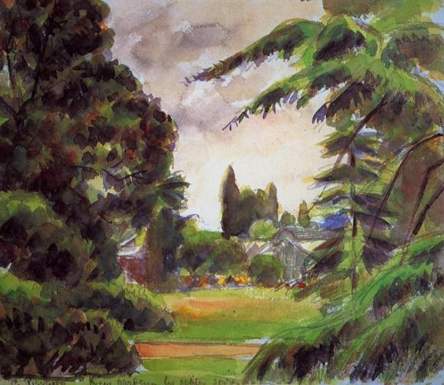 Camille Pissarro - Kew gardens, The little greenhouse.