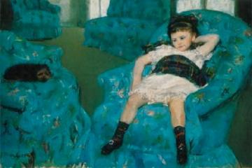 Mary Cassatt - Little Girl in a Blue Armchair