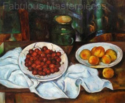 Cezanne's Cherries and Peaches