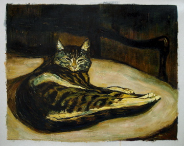Steinlen''s Le Chat. Oil replica by Fabulous Masterpieces