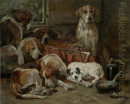John Emms Fox Hounds. Art Reproduction by Fabulous Masterpieces
