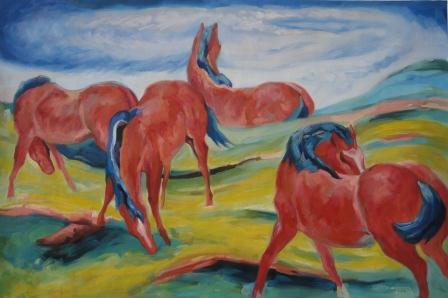 Franz Marc's Grazing Horses III