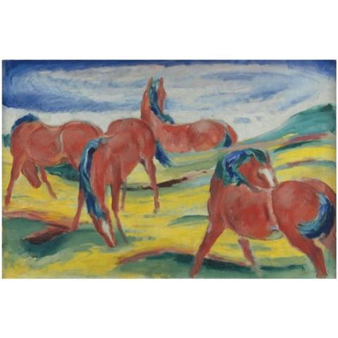 Franz Marc - Grazing Horses