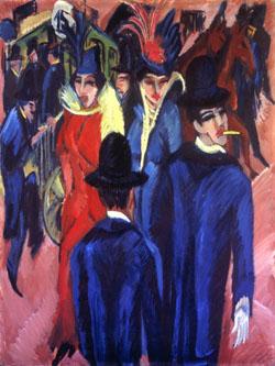 Kirchner's Berlin Street Scene