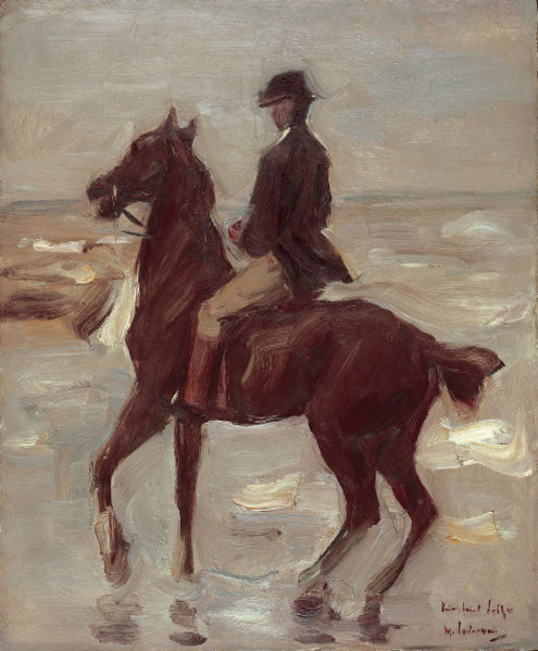 Max Liebermann - Rider On Beach