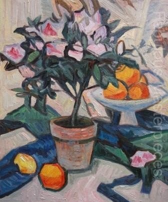 Peploe Pink Azalea and Oranges