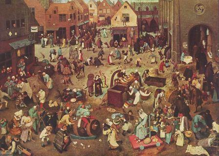 Pieter Brughel - The battle between carnival and lent