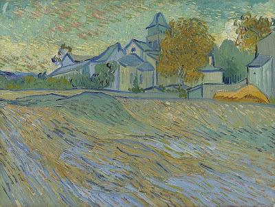 Van Gogh's Vue de l'asile et de la Chapelle de Saint-Rémy