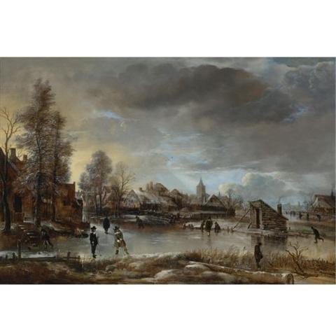Aert Van der Neer's Winter Landscape