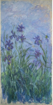 Claude Monet Puprple iris