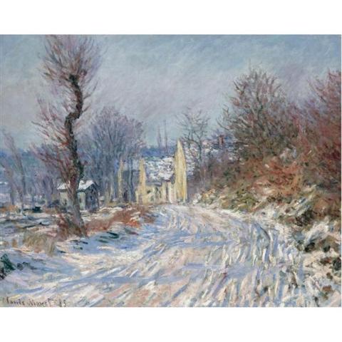 Claude Monet's Route de Giverny en Hiver