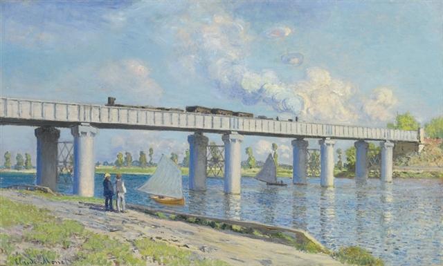 Claude Monet's Le pont du chemin de fer à Argenteuil