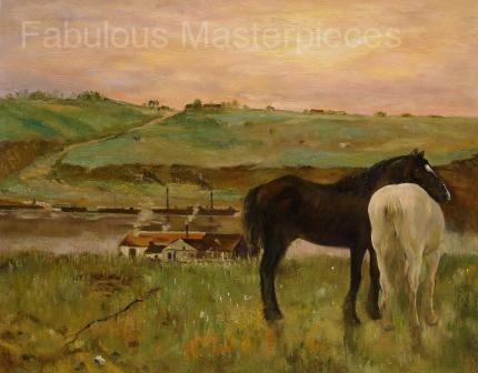 Degas' Horses in a Meadow