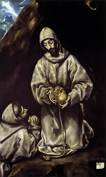 el greco st francis and brother leo