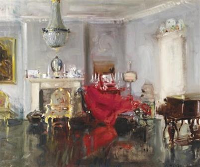 Francis Campbell Cadell - The Artist's Drawing Room