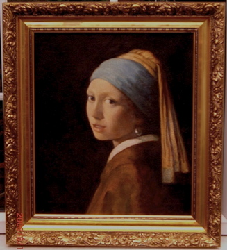 Vermeer's girl with a Pearl Earring by Fabulous Masterpieces