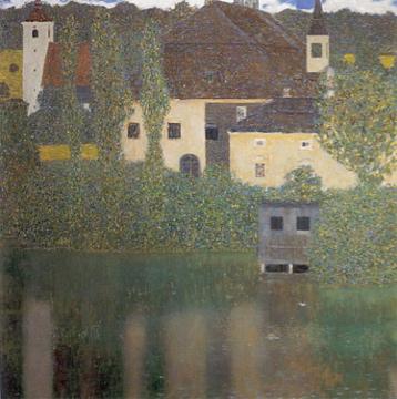 Gustav Klimt - Schloss Kammer at Lake Atter I