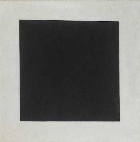 malevich black and white square