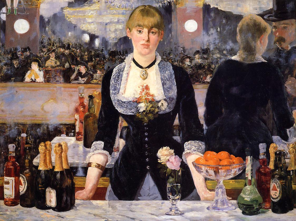 A Bar at the Folies-Bergere by Edouard Manet. Fine Art Reproduction by Fabulousmasterpieces.co.uk