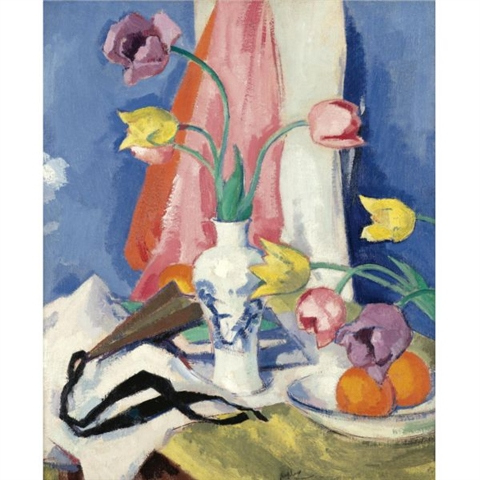Tulips by Samual Peploe. Fine Art Reproduction Oil Painitng