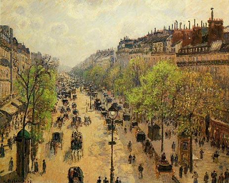 Pissarro, Boulevard Montmartre - Spring