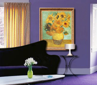 Van Gogh's Sunflowers. Fine Art Reproduction