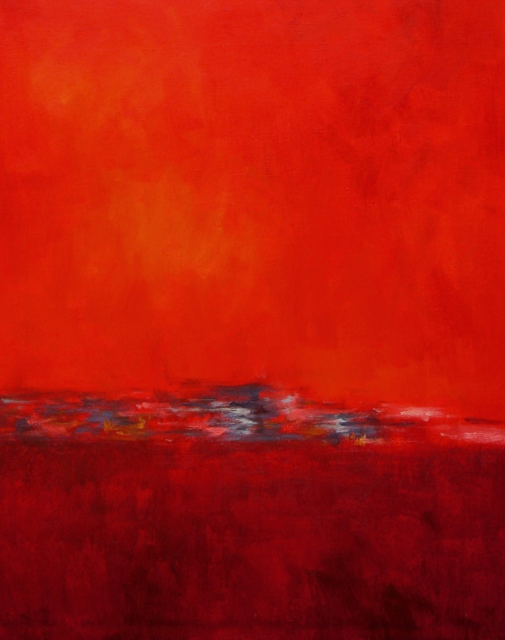 Bespoke Red Abstract Painting
