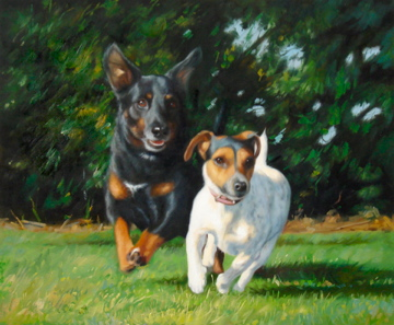 Hand-painted Dog Portaits