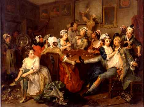 Hogarth - The Orgy. Fine Art Reproduction by Fabulousmasterpieces.co.uk