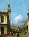 Canaletto Piazzetta Towards the Torre dell''Orologio