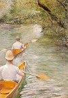 Canoeists by Gustave Caillebotte