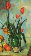Tulips in a Vase by Paul Cezanne