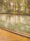 Banks of the River Yerres in the Rain by Gustave Caillebotte