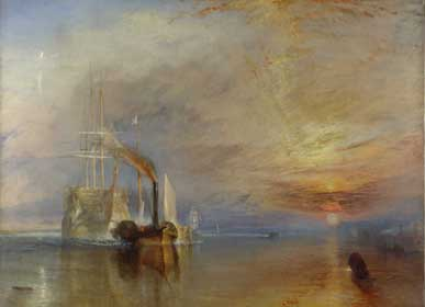 Turner - The Fighting Temeraire. Fine Art Reproduction by Fabulousmasterpieces.co.uk